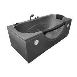 Wanna łazienkowa SPA z hydromasażem MO-1002 SREBRNA 1-osobowa 180x85x65cm