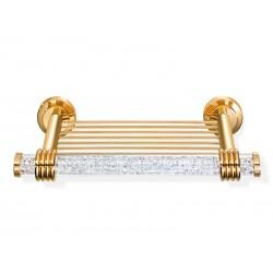 Złota półka łazienkowa Orbit