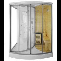 Kabina prysznicowa  Adamo  z sauną  suchą i parowa  165 x 105 x 215 cm