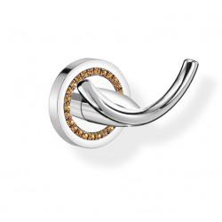 Haczyk podwójny łazienkowy ALOE A3-16818  Swarovski kryształ Miodowy