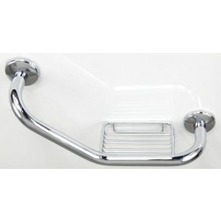 Uchwyt łazienkowy poręcz z mydelniczką (lewy) A3-401
