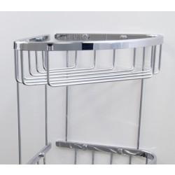 Potrójny koszyk łazienkowy rogowy (3ply)