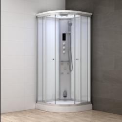 Kabina prysznicowa z sauną  EZ 610106  MILAN II  100 x 100 x 217cm biała