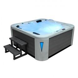 EO-SPA Aussenwhirlpool IN-594 premium SilverMarble 215x215 grau