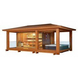 EO-SPA Sauna LT07 rote Zeder 558x350 10.8kW Vitra