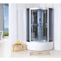 Kabina prysznicowa z hydromasażem 100x100 Danel z wysokim brodzikiem