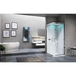 Kabina prysznicowa Eon A z hydromasażem  90X90 cm i opcja z sauną parową