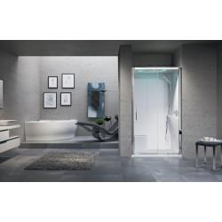 Kabina prysznicowa Eon II z hydromasażem  do wneki 120x80 cm i opcja z sauną parową