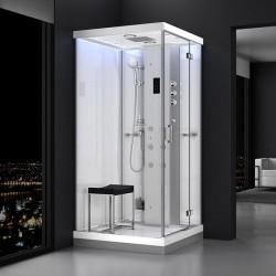 Kabina prysznicowa z sauną  EZ 6101033  MILAN 100 x 100 x 217cm biała prawa