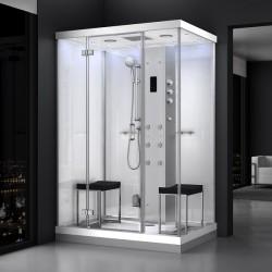 Kabina prysznicowa z sauną  EZ 610102  MILAN 140 x 100 x 217cm biała lewa