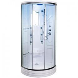Kabina prysznicowa z hydromasażem 80x80 Kartez  z niskim brodzikiem