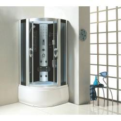 Kabina prysznicowa z hydromasażem 90X90 Lena z wysokim brodzikiem