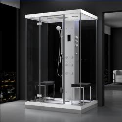 Kabina prysznicowa z sauną  EZ 610102  MILAN 140 x 100 x 217cm na prosta sciane