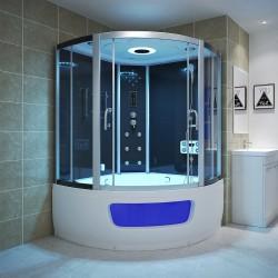 Kabina de Lux 135x135 cm z sauna parowa i wanna z hydromsazem