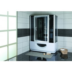Kabina prysznicowa z hydromasażem 145x85  Laura  z wysokim brodzikiem i sauną