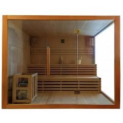 Sauna sucha z piecem  5 osobowa  220x200x200