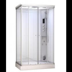 Kabina prysznicowa z sauną  EZ 690110  MILAN  biała 120 x 80 x 217cm  prawa