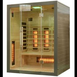 Sauna na podczerwień 3 sobowa 150x120 x190 cm  SREBRNA