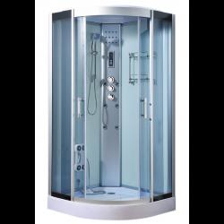 Kabina prysznicowa z hydromasażem  Wanda II Bianco  90x90 cm silicon free