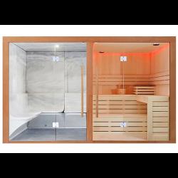 Sauna sucha z kabiną parową  8 osobowa 340x175x210cm