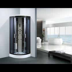 Kabina prysznicowa z hydromasażem  Wanda 80x80 cm silicon free