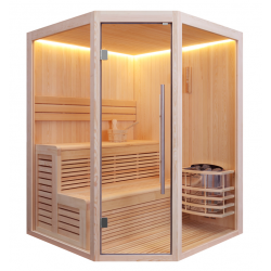 Sauna sucha Maja  z piecem Harvia Vega o mocy 6 kW  160x160x210cm