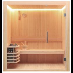 Sauna sucha Ola z piecem Harvia Vega o mocy 6 kW  120x120x190 cm