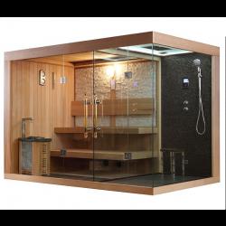 Sauna sucha z kabiną parową  6 osobowa 300x180x210cm