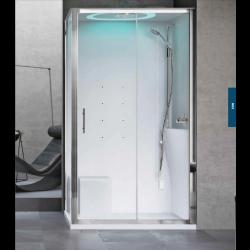Kabina prysznicowa Eon z hydromasażem i sauną parową  120 x 80  cm