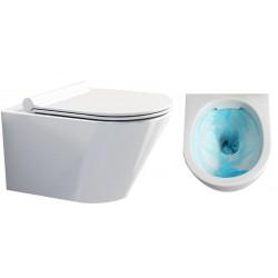 Misa wc Tenos rimless bezkołnierzowa z deską wolnoopadającą