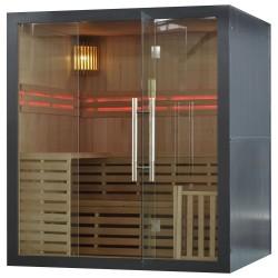 Sauna sucha z piecem  Harvia  4 osobowa 180 x160x201 cm szara