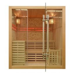 Sauna sucha z piecem 180x160x201