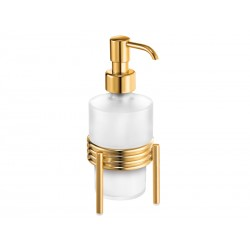 Dozownik w złocie na mydło w płynie stojący ORBIT
