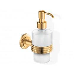 Złoty dozownik na mydło wiszący naścienny ORBIT
