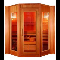 Sauna sucha z piecem 4-osobowa 200x208x200cm