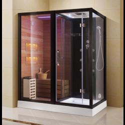 Kabina prysznicowa  Aleks  z sauną  suchą i parowa   180 x 110 x 223cm lewa