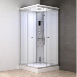 Kabina prysznicowa z sauną  EZ 610105  MILAN 100 x 100 x 217cm BIAŁA