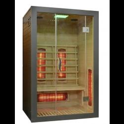 Sauna na podczerwień  SZARA 2-osobowa 121x106x192cm
