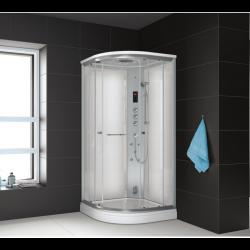 Kabina prysznicowa z sauną  EZ 610102  MILAN 90 x 90 x 217cm biała