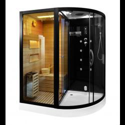 Kabina prysznicowa  Andre  z sauną  suchą i parowa  180 x 110 x 223cm LEWA
