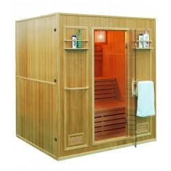 Sauna sucha z piecem  4-osobowa 176x150x192cm