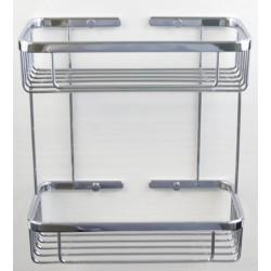 Półka koszyk łazienkowy podwójny chromowy (2PLY) A3-004