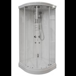 Kabina prysznicowa z sauną  EZ 610108  MILAN 90 x 90 x 217cm biała