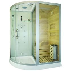 Kabina prysznicowa  Andre  z sauną  suchą i parowa  180 x 110 x 223cm PRAWA