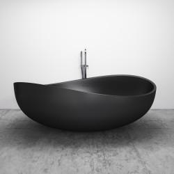 Wolnostojąca wanna konglomeratowa Ada czarny mat  180 x 110 x 62 cm