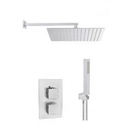 Zestaw podtynkowy kwadrat deszczownica slim 30 termostatyczny