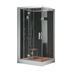 kabina z sauna  DZ959-1F8 schwarz 120x90 prawa lub lewa