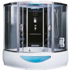 Kabina z sauna i hydromasazem Kombi 150x150 ciemna