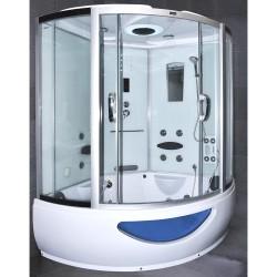 Kabina z sauna i hydromasazem Kombi 150x150 biała