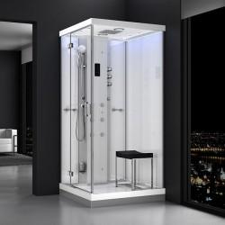 Kabina prysznicowa z sauną  EZ 6101033  MILAN 100 x 100 x 217cm biała lewa